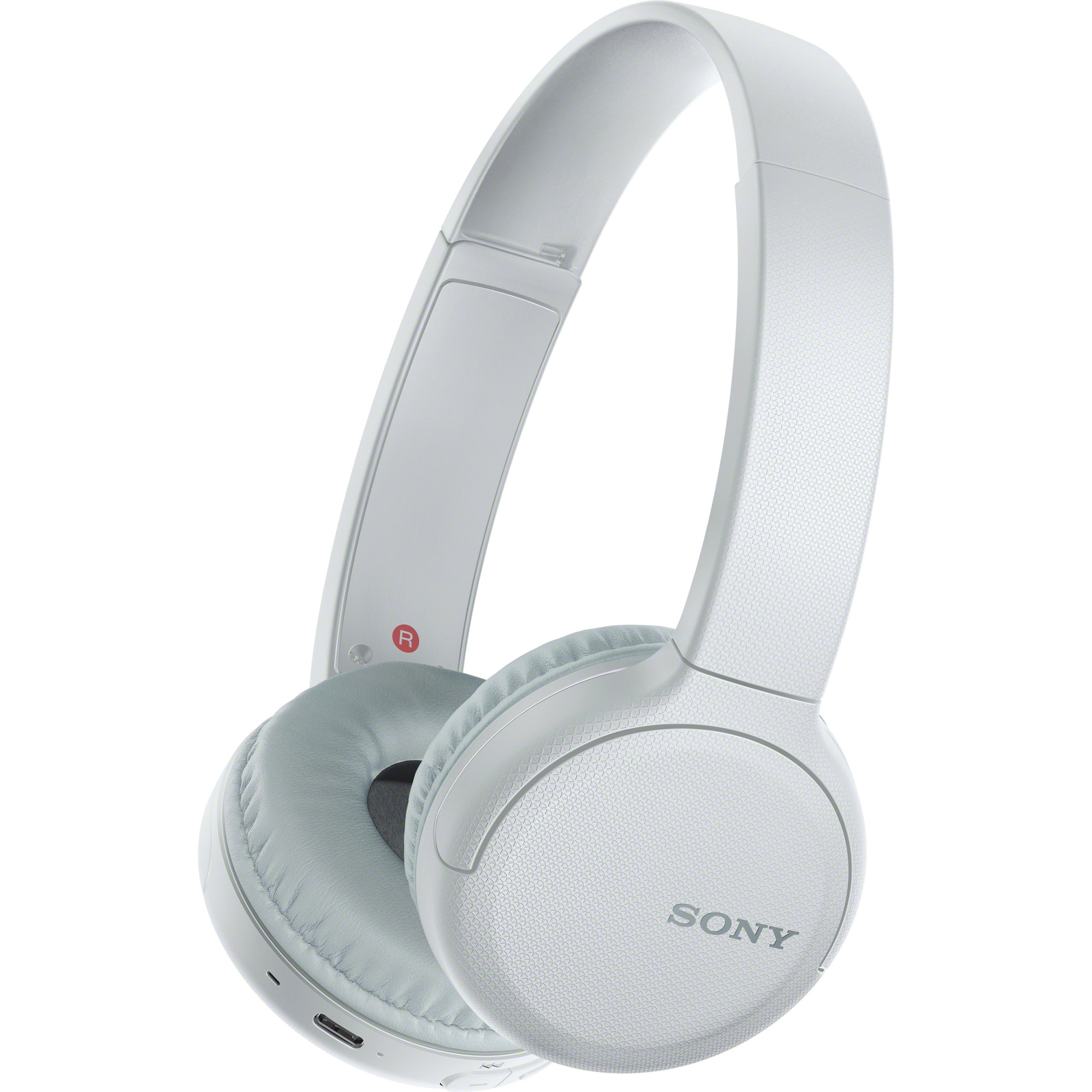 Fotografie Casti On-Ear SONY WHCH510W, Bluetooth, Microfon, 35 ore autonomie, Alb