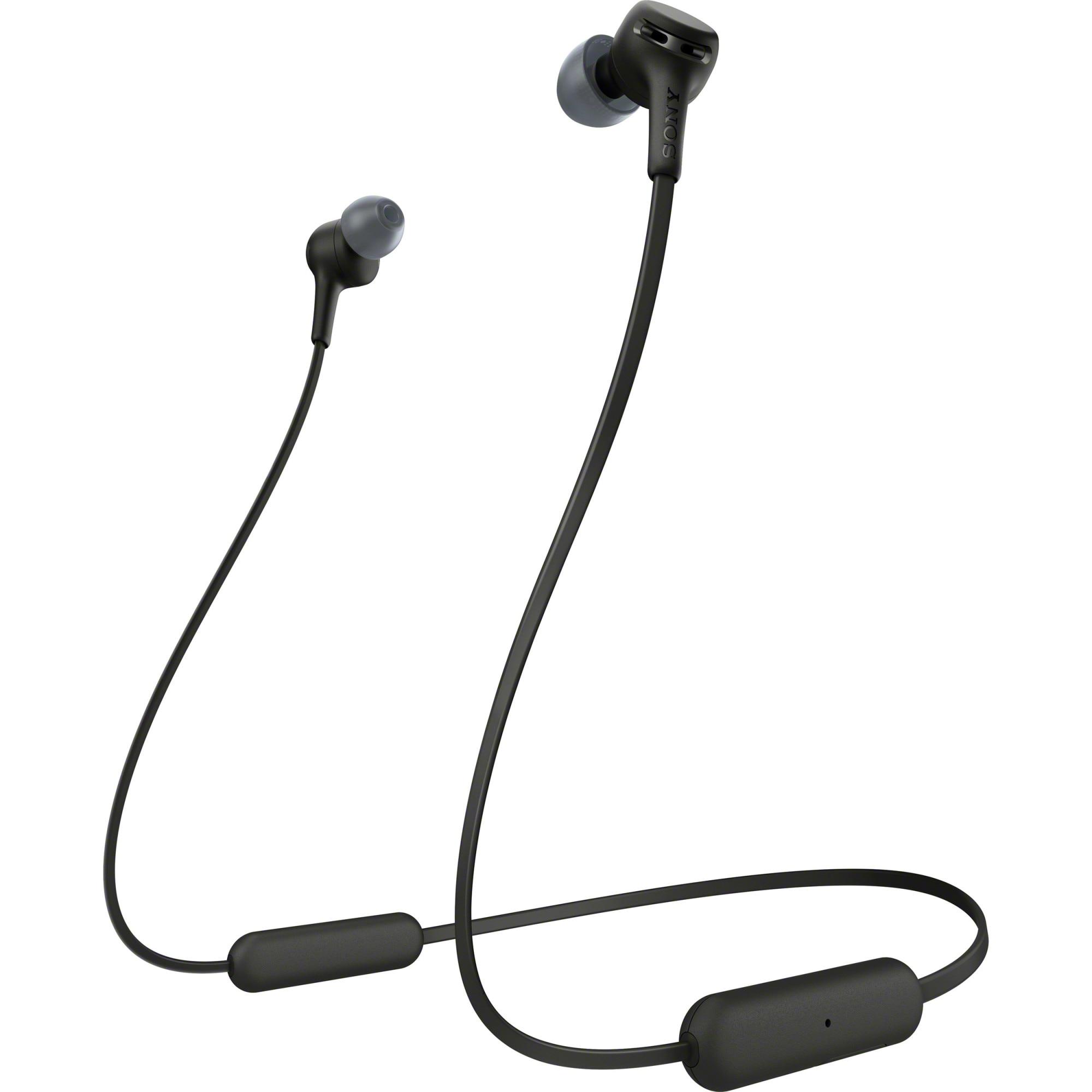 Fotografie Casti In-Ear SONY WIXB400B, Bluetooth, EXTRA BASS, 15 ore autonomie, Microfon, Negru