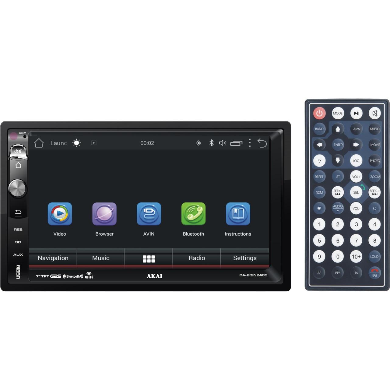 "Fotografie Multi-Media Player 2-DIN Akai CA-2DIN2405, 7"", Bluetooth, Android, USB, SD Card, GPS, telecomanda, 4x25W"