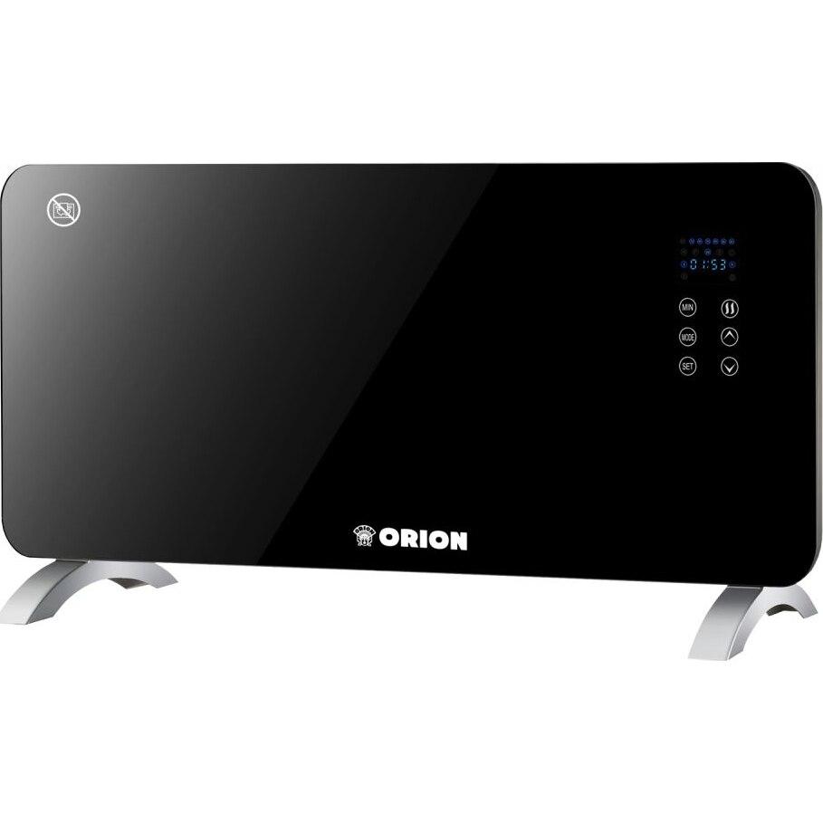 Fotografie Convector electric panou sticla Orion OPH-19B, 2000 W, butoane tip touch, telecomanda, timer, termostat reglabil, negru