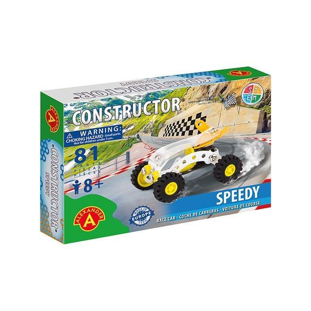 Alexander Toys 8016055 Speedy versenyautó fém építőjáték 81db-os jIK6jC