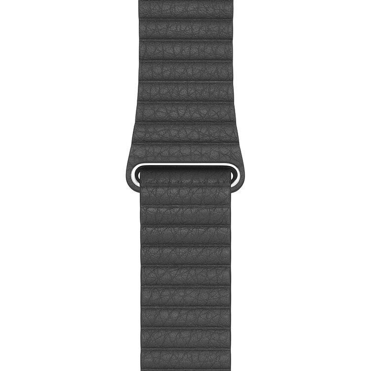 Fotografie Curea pentru Apple Watch 44mm, Leather Loop, Large, Black