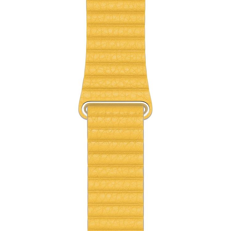 Fotografie Curea pentru Apple Watch 44mm, Leather Loop, Medium, Meyer Lemon