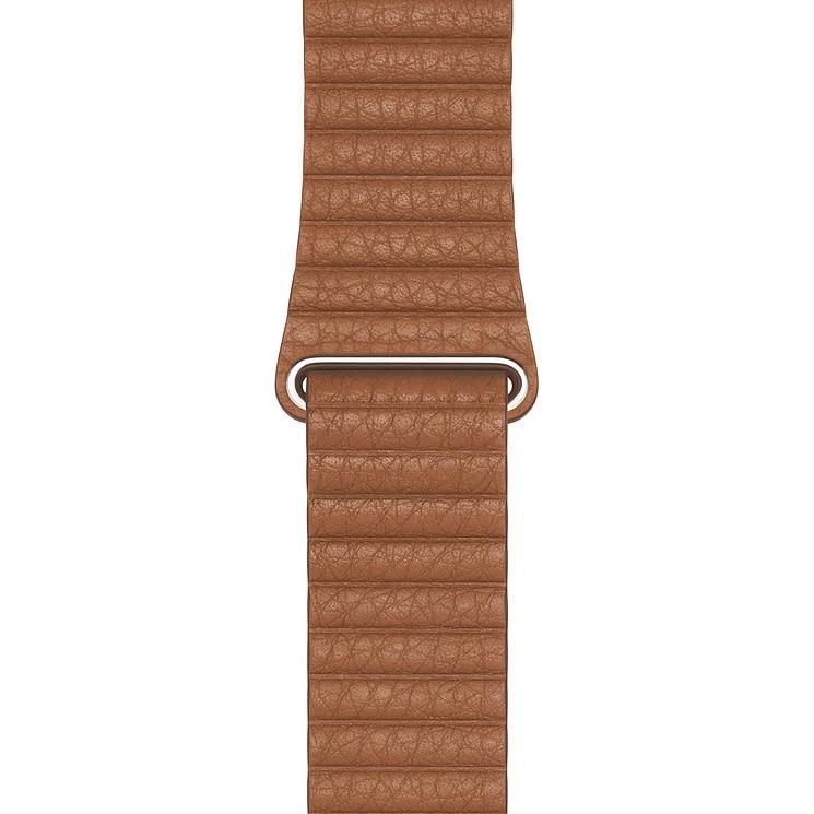 Fotografie Curea pentru Apple Watch 44mm, Leather Loop, Medium, Saddle Brown