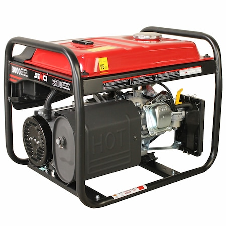 Generator curent electric Senci SC-3500E Lite, 3000 W, 230 V, 208 CC, demaraj la cheie, 9.5 h autonomie, 15 l, benzina