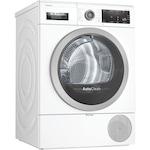 Сушилня Bosch WTX87M90BY, Термопомпа, 9 kg, 15 програми, Клас A++, AutoDry Technology, Бяла