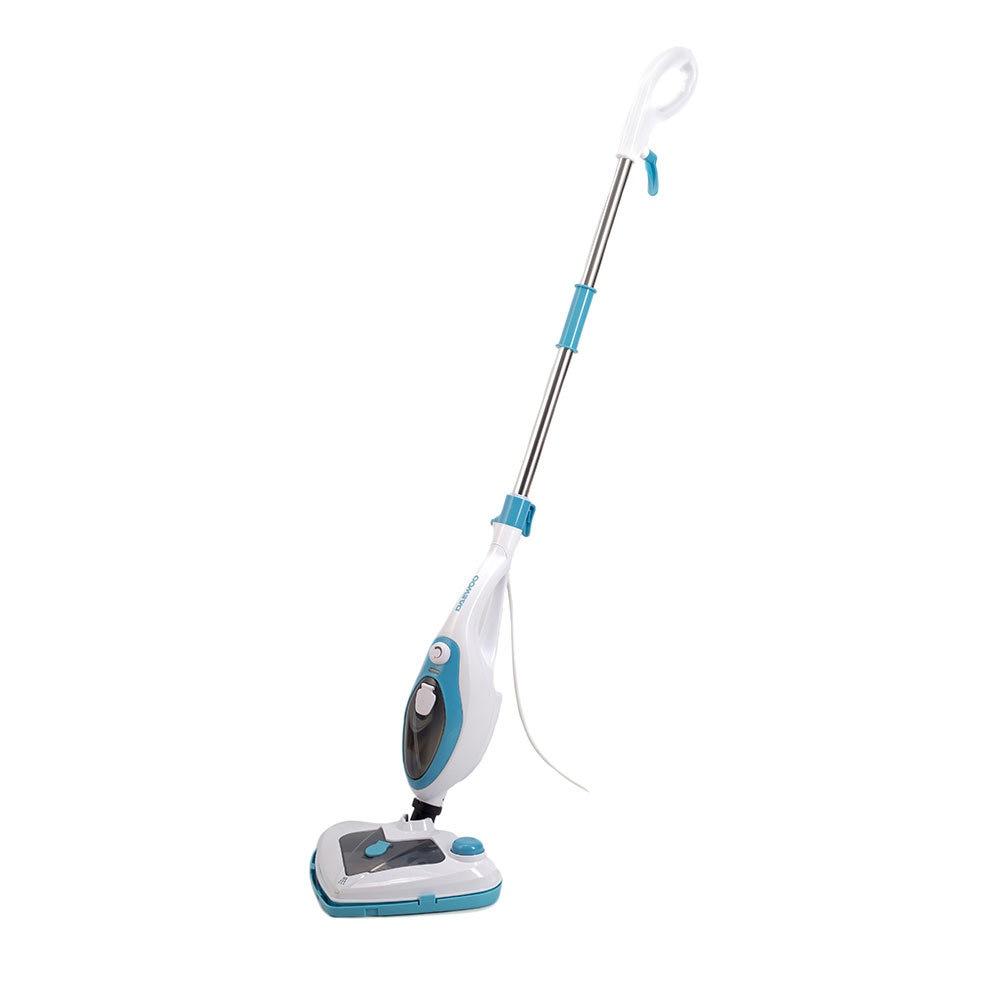 Fotografie Mop cu aburi Daewoo DMO160, 1500 W, 0.4 L, recipient detergent, accesorii incluse, Alb