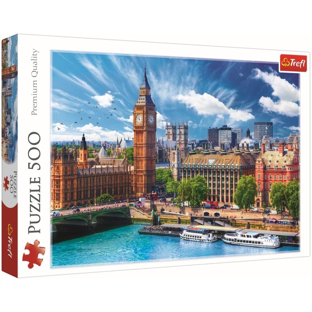 Fotografie Puzzle Trefl, O zi cu soare la Londra, 500 piese