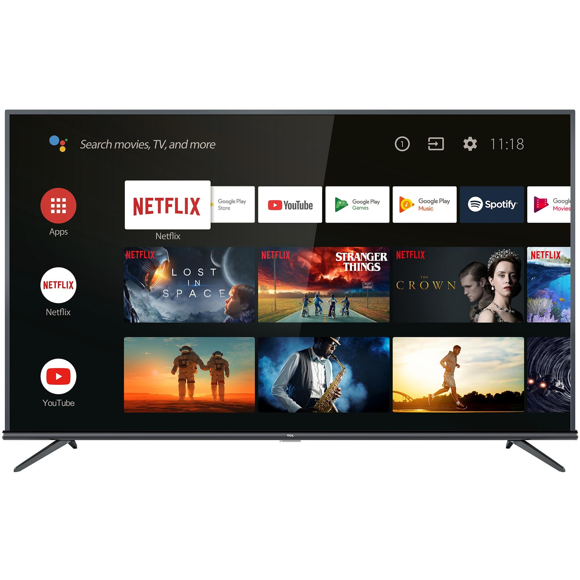 Fotografie Televizor LED Smart Android TCL, 109 cm, 43EP660, 4K Ultra HD, Clasa A