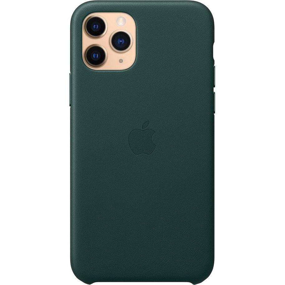 Fotografie Husa de protectie Apple pentru iPhone 11 Pro, Piele, Forest Green