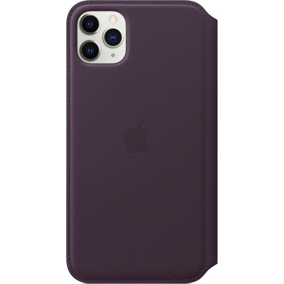 Fotografie Husa de protectie Apple pentru iPhone 11 Pro Max, Piele, Aubergine