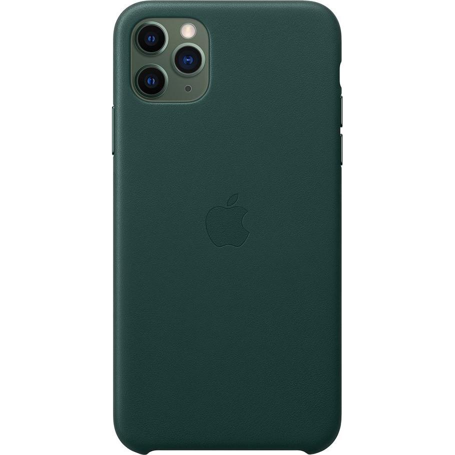 Fotografie Husa de protectie Apple pentru iPhone 11 Pro Max, Piele, Forest Green