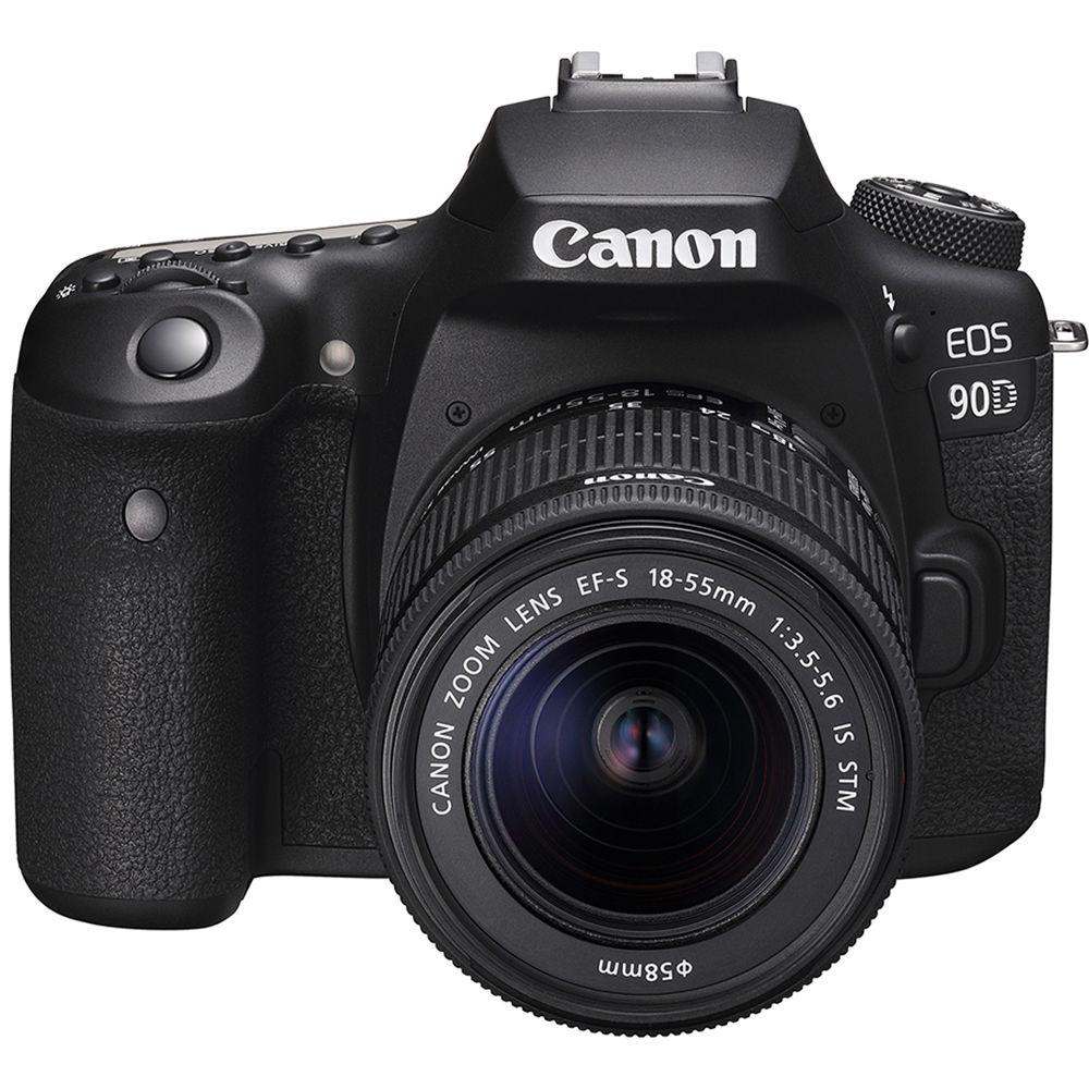Fotografie Aparat foto DSLR Canon EOS 90D, 32.5 MP, 4K, Negru + Obiectiv 18-55mm IS STM