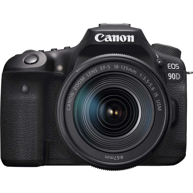 Fotografie Aparat foto DSLR Canon EOS 90D, 32.5 MP, 4K, Negru + Obiectiv 18-135mm IS USM