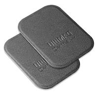 4smarts Ultimag Metal Plate - два броя метална пластина с кожено покритие за магнитни поставки (сив)