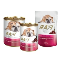 Пауч за кучета Rafi Adult с телешко, 300 гр