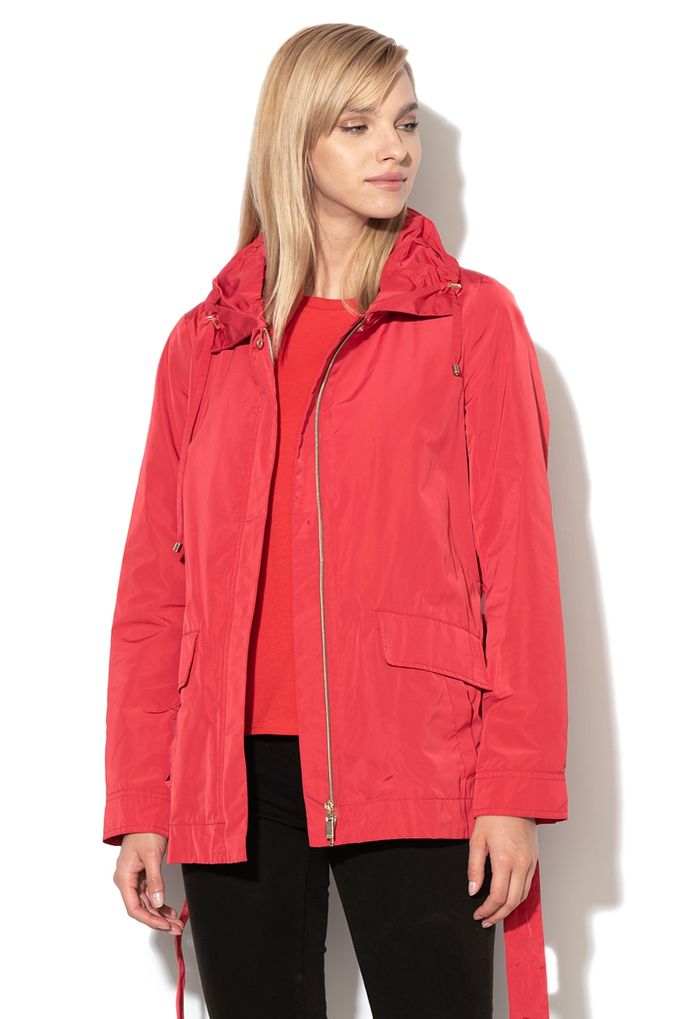 Sisley, Steppelt könnyű súlyú bélelt dzseki, Piros, 42 eMAG.hu