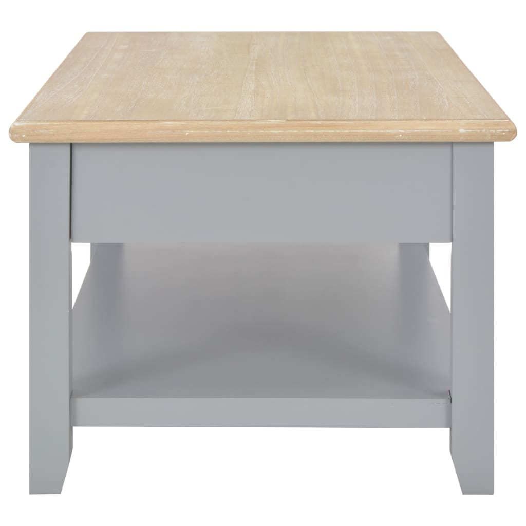 Dohányzóasztal, vidaXL, fa, szürke, 100 x 55 x 40 cm m9x8Vc