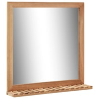 Fürdőszobai tükör, vidaXL, tömör diófa, 60 x 12 x 62 cm