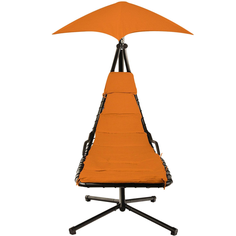 Fotografie Leagan/Balansoar pentru gradina/terasa Kring Bora Bora, 190x100x220 cm, negru/orange