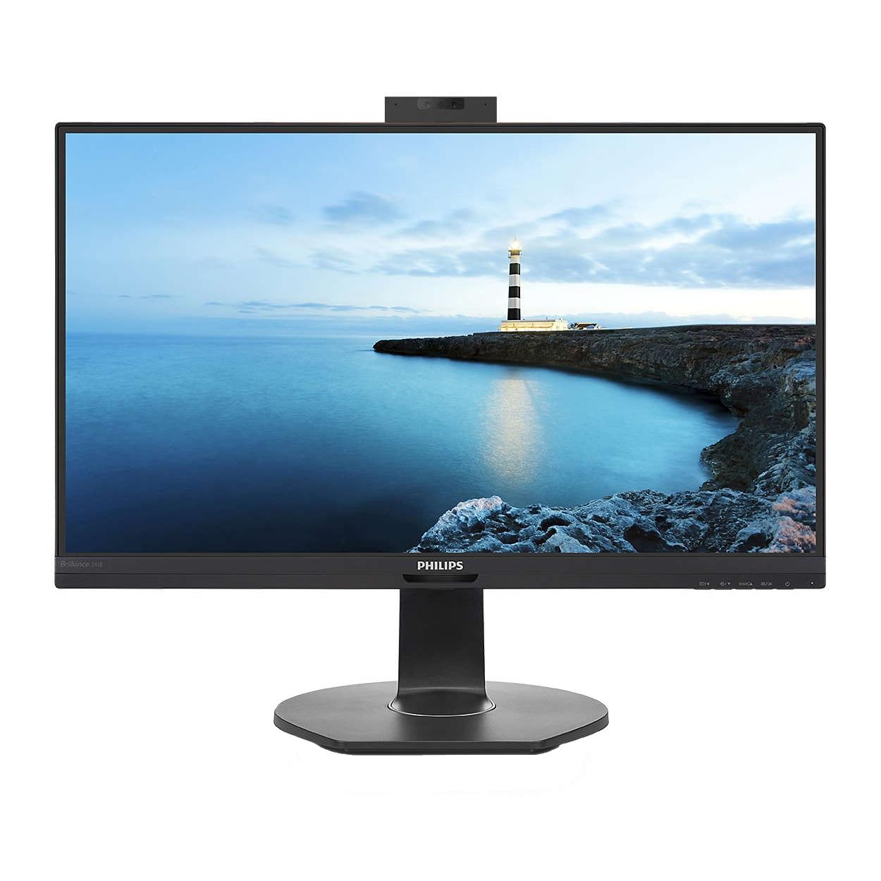 "Fotografie Monitor LED IPS Philips 23.8"", Full HD, Display Port, Statie de andocare USB-C, Negru"
