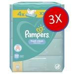 Pampers Fresh Clean Babatörlőkendő, 12 csomag x 80 db, 960 darab