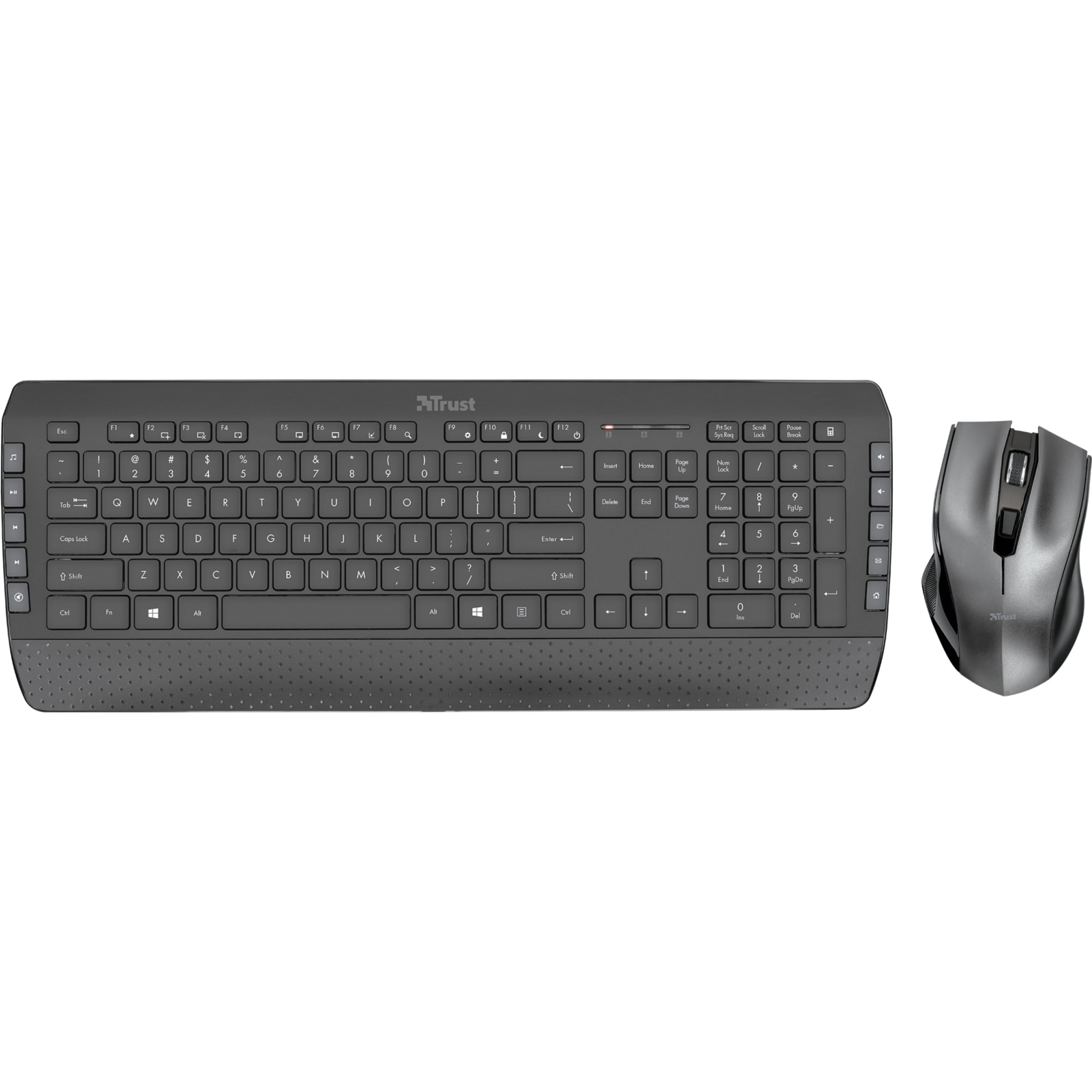 Fotografie Kit Tastatura + Mouse wireless Trust Tecla 2, Negru