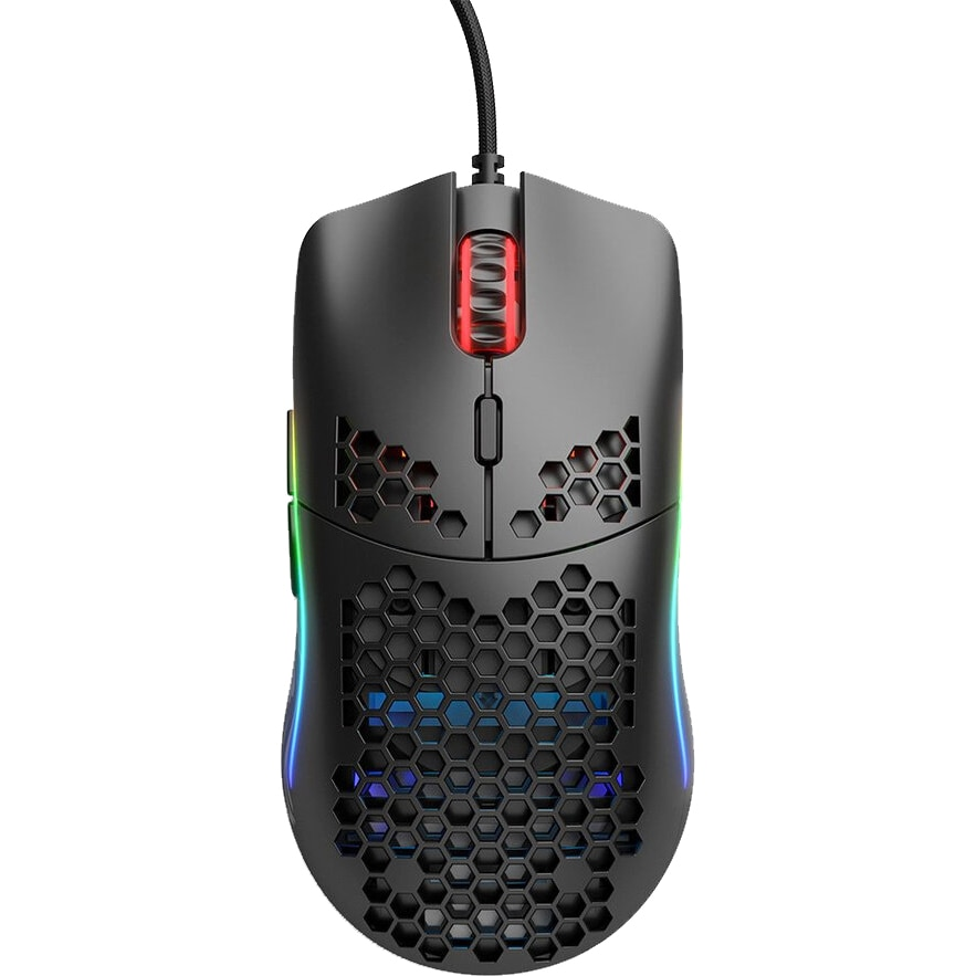 Fotografie Mouse Glorious PC Gaming Race Model O, Ultrausor 67g, Negru Mat