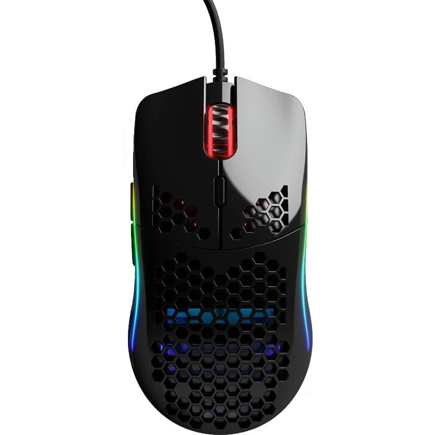 Fotografie Mouse Glorious PC Gaming Race Model O, Ultrausor 67g, Negru Gloss