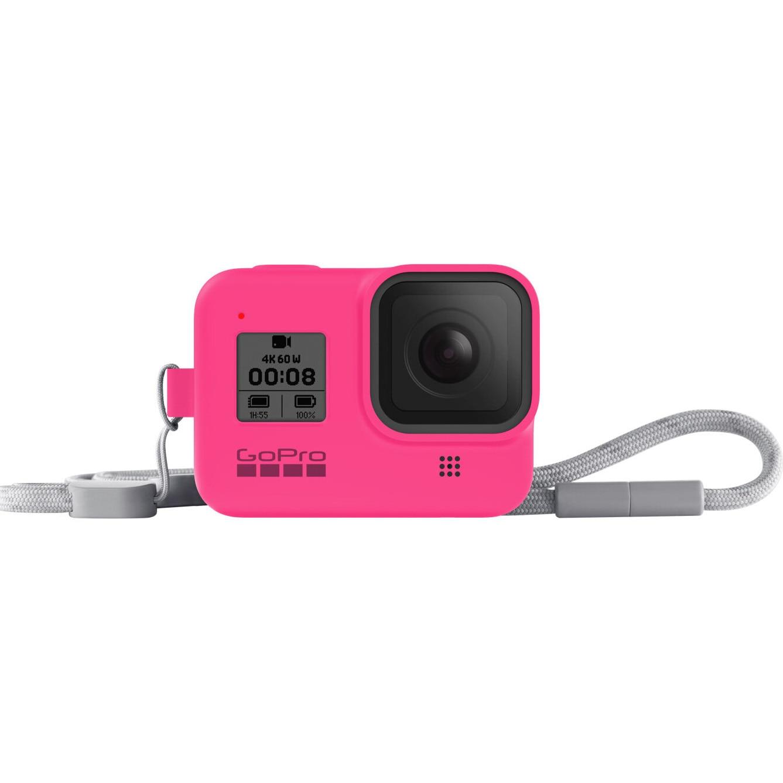 Fotografie Sistem prindere si transport GoPro Sleeve + Snur, Roz pentru Hero8 Black