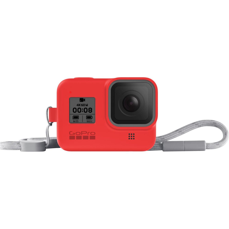 Fotografie Sistem prindere si transport GoPro Sleeve + Snur, Rosu pentru Hero8 Black