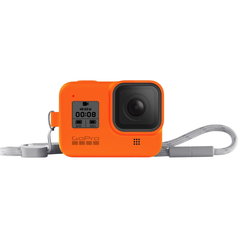 Fotografie Sistem prindere si transport GoPro Sleeve + Snur, Portocaliu pentru Hero8 Black
