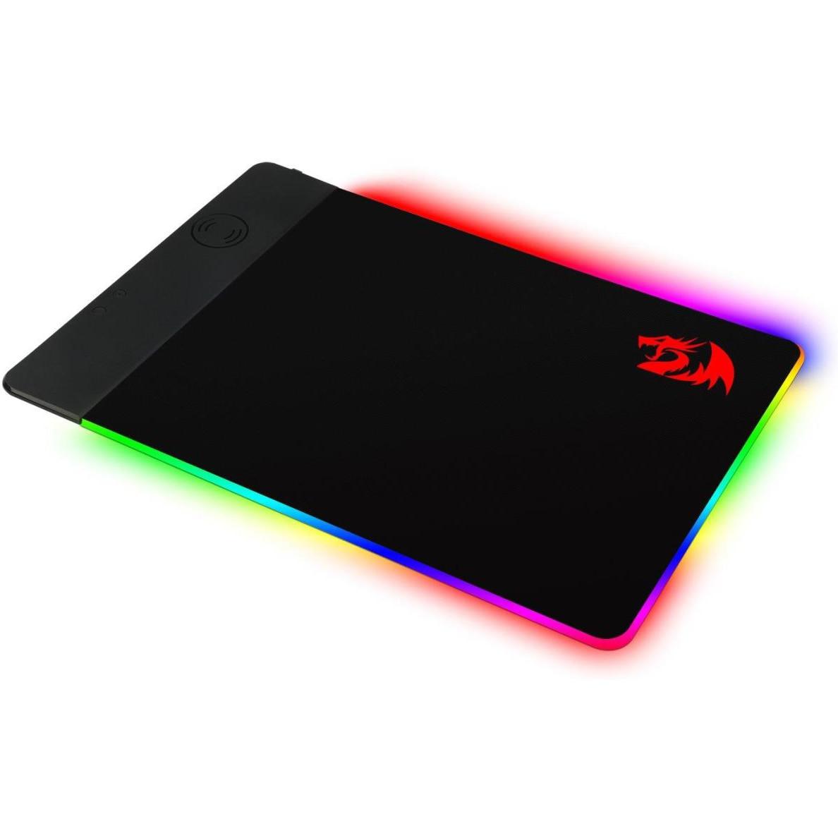 Fotografie Mousepad cu incarcare wireless Qi Redragon, suprafata textil, incarcare Qi 10W, 44x30cm