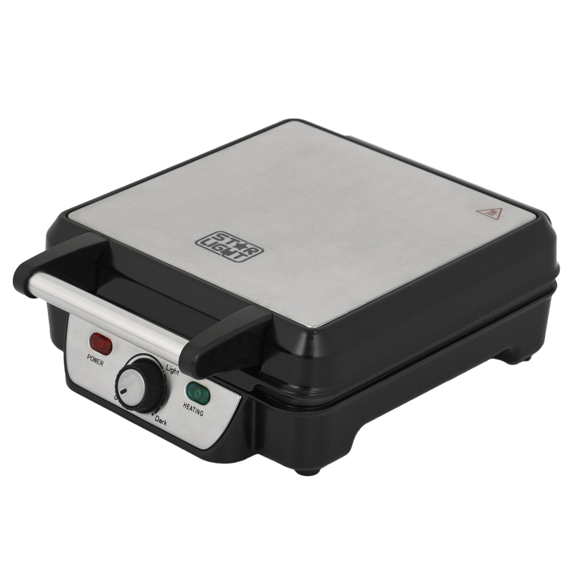 Fotografie Aparat pentru preparat vafe/gofre Star-Light WMH-1100W, 1100W, Termostat ajustabil, Inox