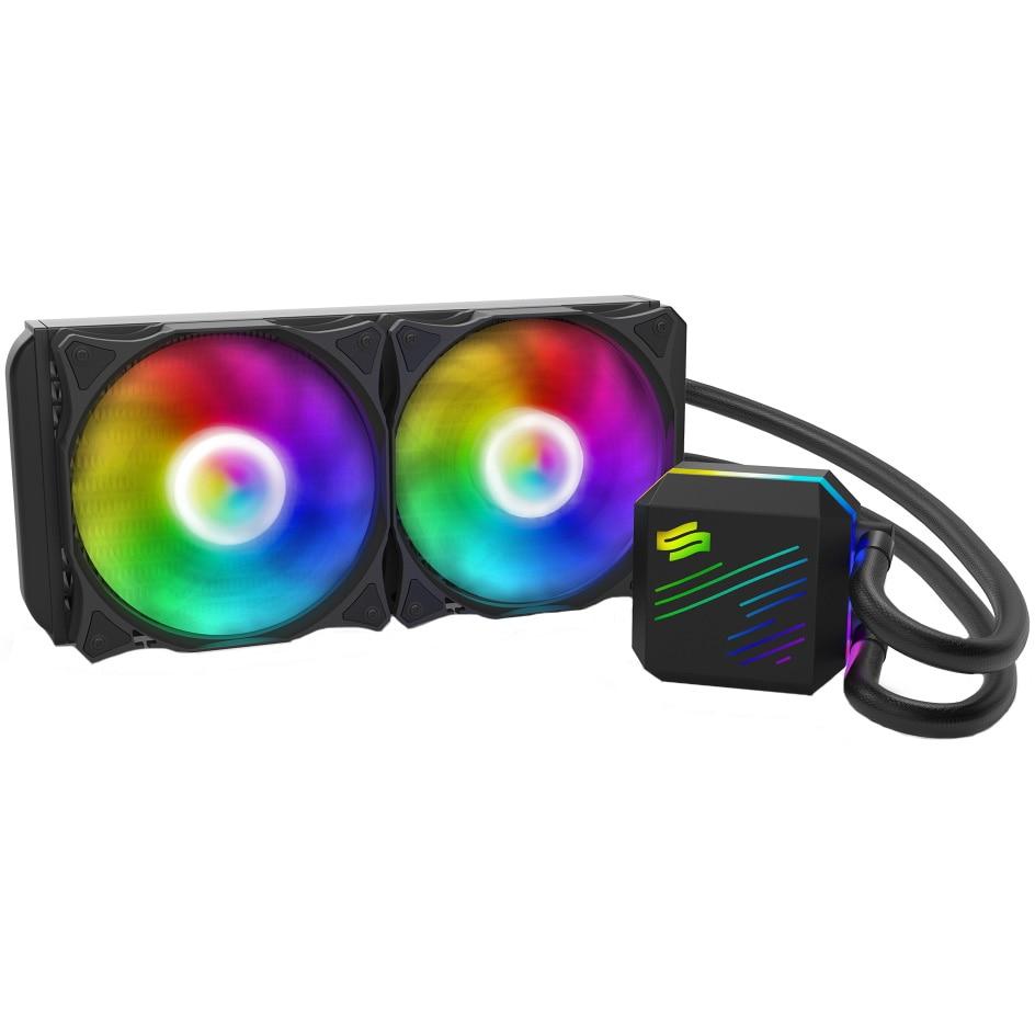 Fotografie Cooler Procesor Silentium PC Navis EVO ARGB 240, compatibil Intel/AMD