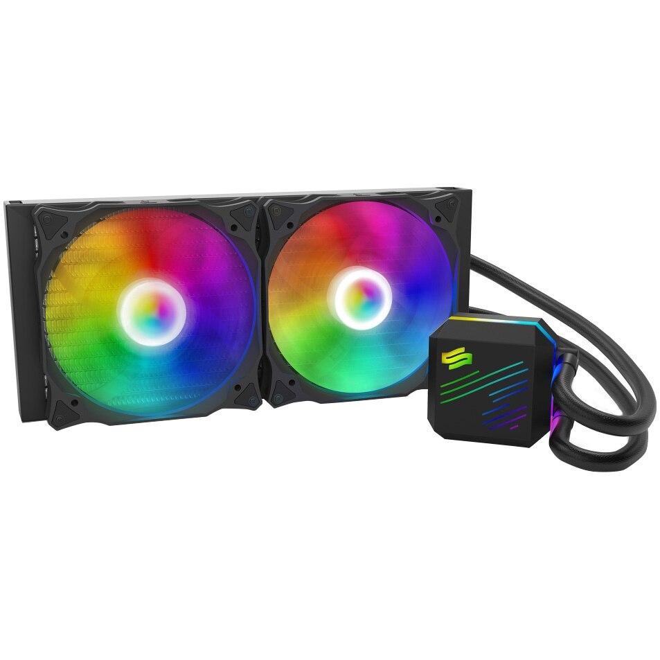 Fotografie Cooler Procesor SilentiumPC Navis EVO ARGB 280, compatibil Intel/AMD