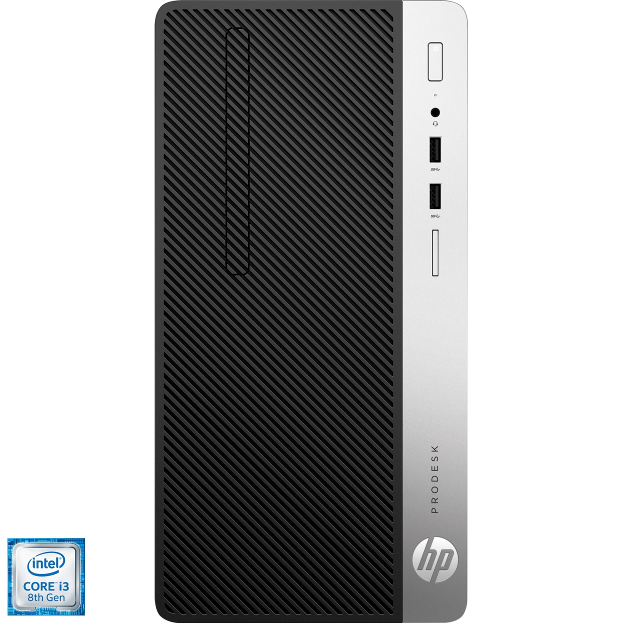 Fotografie Sistem Desktop PC HP ProDesk 400 G5 MT cu procesor Intel® Core™ i3-8100 3.60 GHz, Coffee Lake, 8GB, 1TB, DVD-RW, Intel® UHD Graphics 630, Microsoft Windows 10 Pro, Mouse + Tastatura