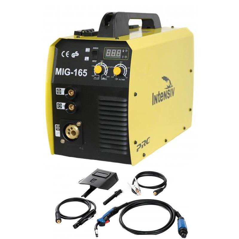 Fotografie Invertor sudura Intensiv MIG/MMA 165, 160 A, 230 V, 1.6-3.2 mm electrod, 4.5 kVA curent absorbit, accesorii incluse