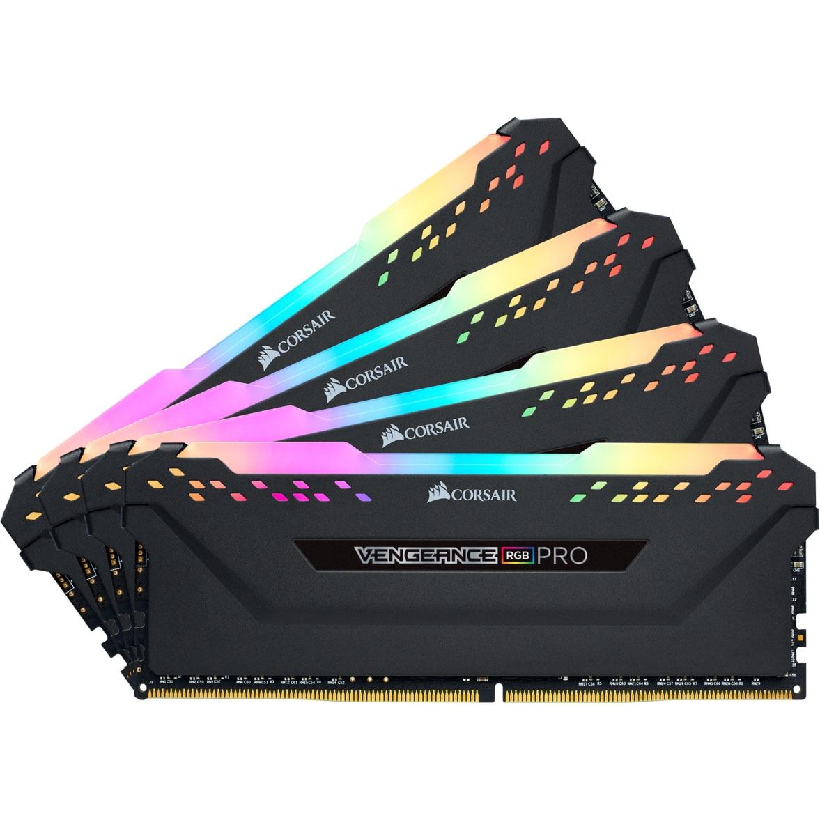 Fotografie Memorie Corsair Vengeance RGB PRO 64GB, DDR4, 3200MHz, CL16, Quad Channel Kit