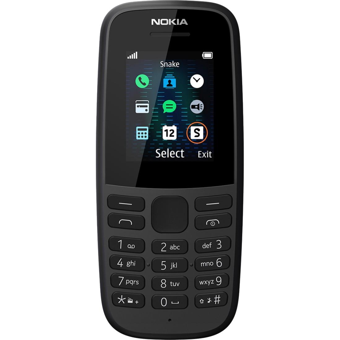 Fotografie Telefon mobil Nokia 105 (2019), Dual SIM, Black