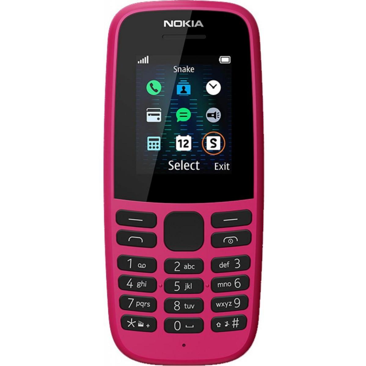 Fotografie Telefon mobil Nokia 105 (2019), Dual SIM, Pink