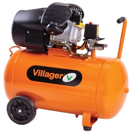Fotografie Compresor Villager VAT VE 100 D, 100 litri, 316 l/min, 8 bar, 2200 W