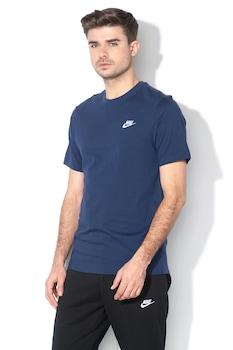Nike, Tricou cu logo brodat Club, Albastru marin