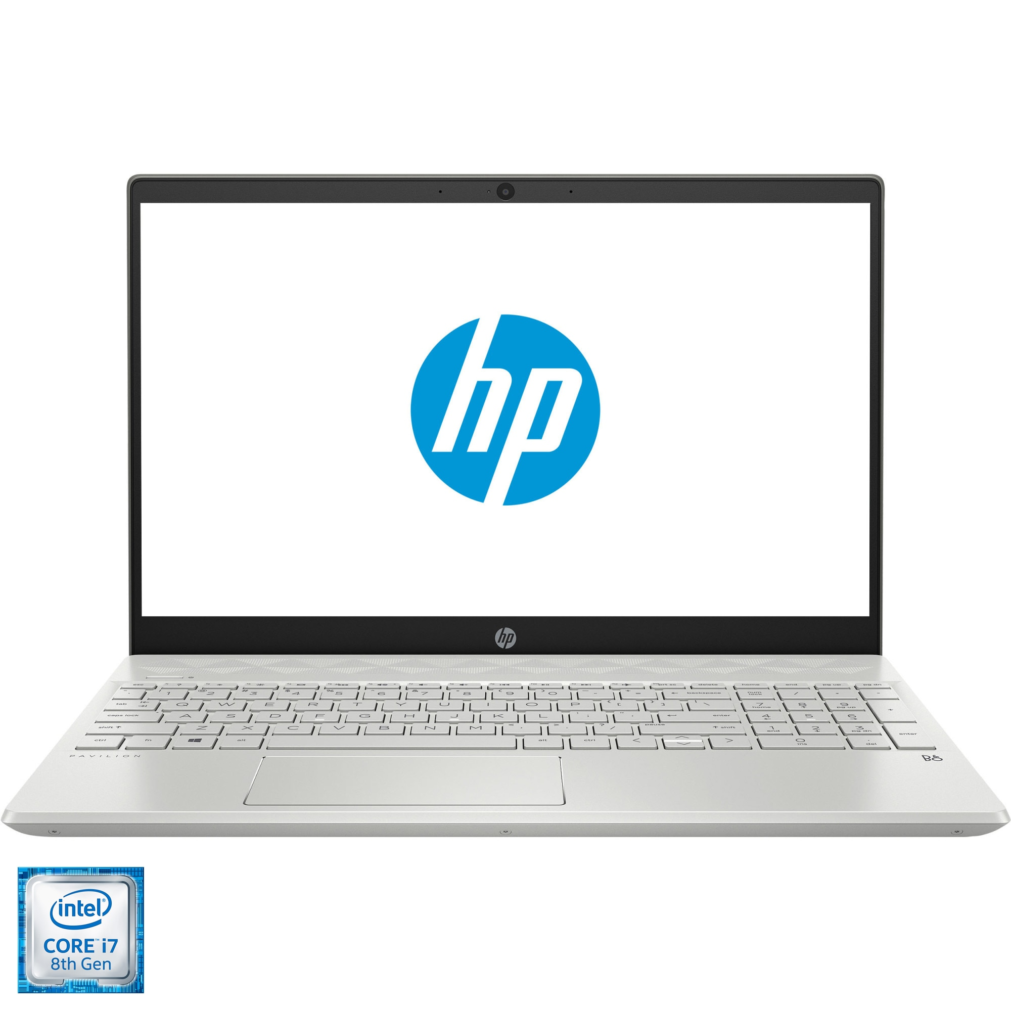 "Fotografie Laptop HP Pavilon 15-cs1005nq cu procesor Intel® Core™ i7-8565U pana la 4.60 GHz Whiskey Lake, 15.6"", Full HD, 8GB, 256GB SSD,Nvidia GeForce MX150 2GB, Free DOS, Mineral Silver"