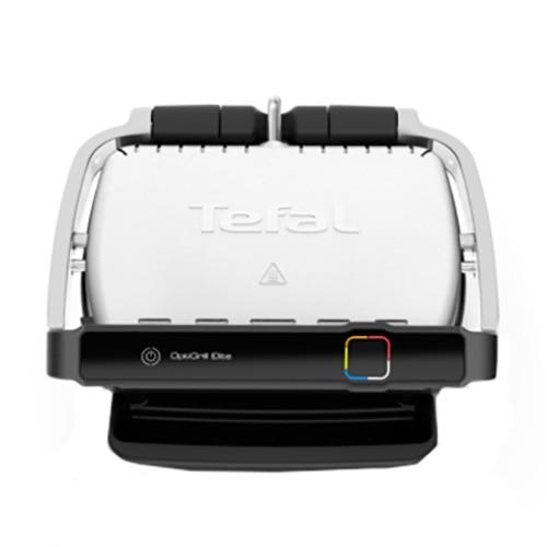 Fotografie Gratar electric Tefal OptiGrill Elite GC750D30, 12 programe, 30x20 cm, termostat reglabil, Negru/Inox