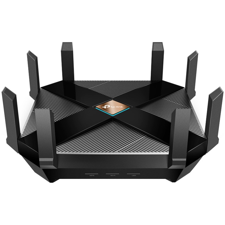 Fotografie Router wireless TP-Link Archer AX6000, 802.11ax, Wi-Fi 6, Dual-Band, Negru