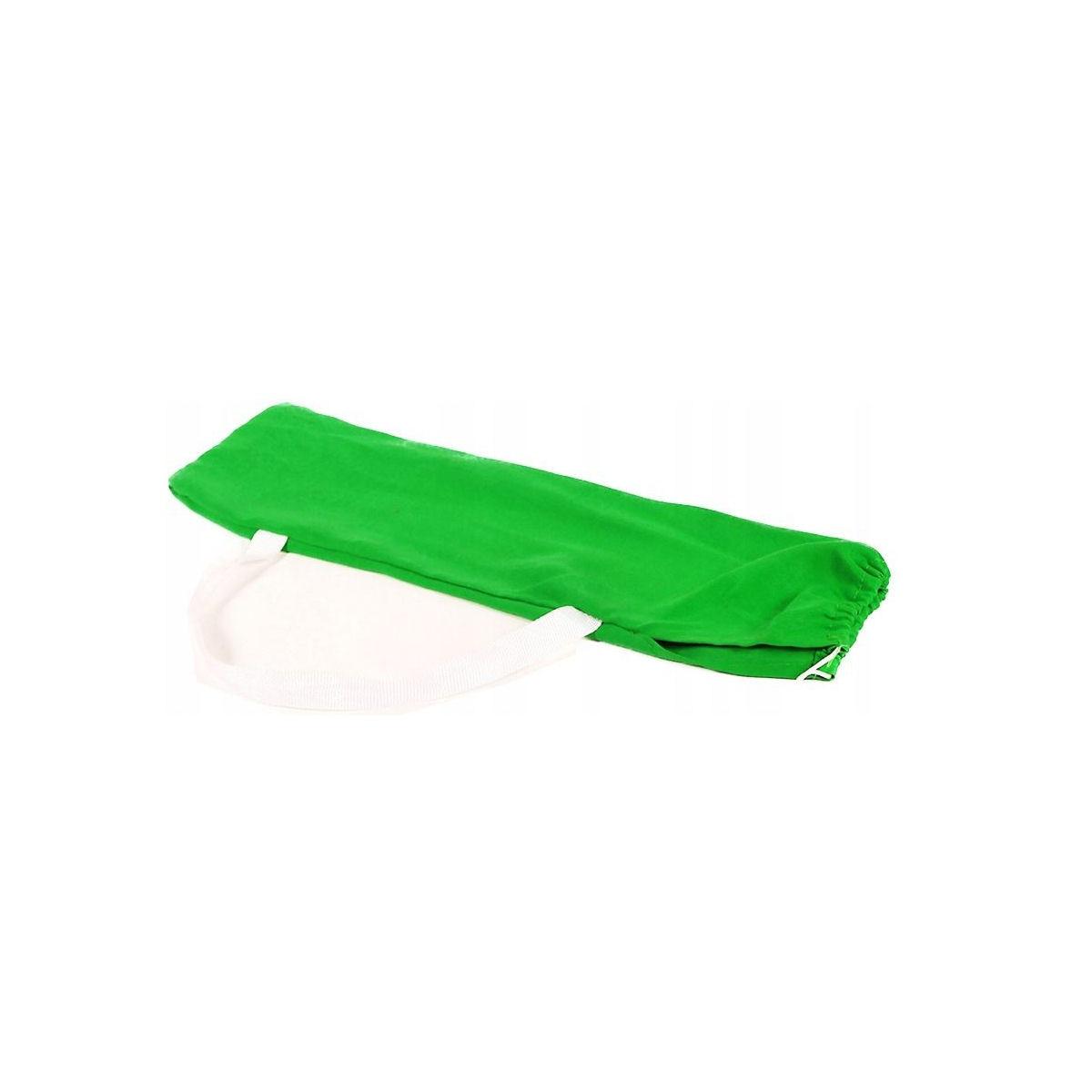 Összecsukható, könnyű kempingszék zöld színben, napozó ágy