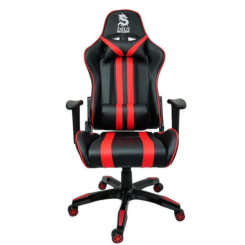 Zenga Gamer szék Deus Fast, szintetikus bőr, Fekete Piros