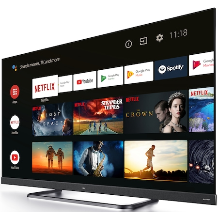 Televizor LED Smart Android TCL 139 cm, 55EC780, 4K Ultra HD, Clasa A+