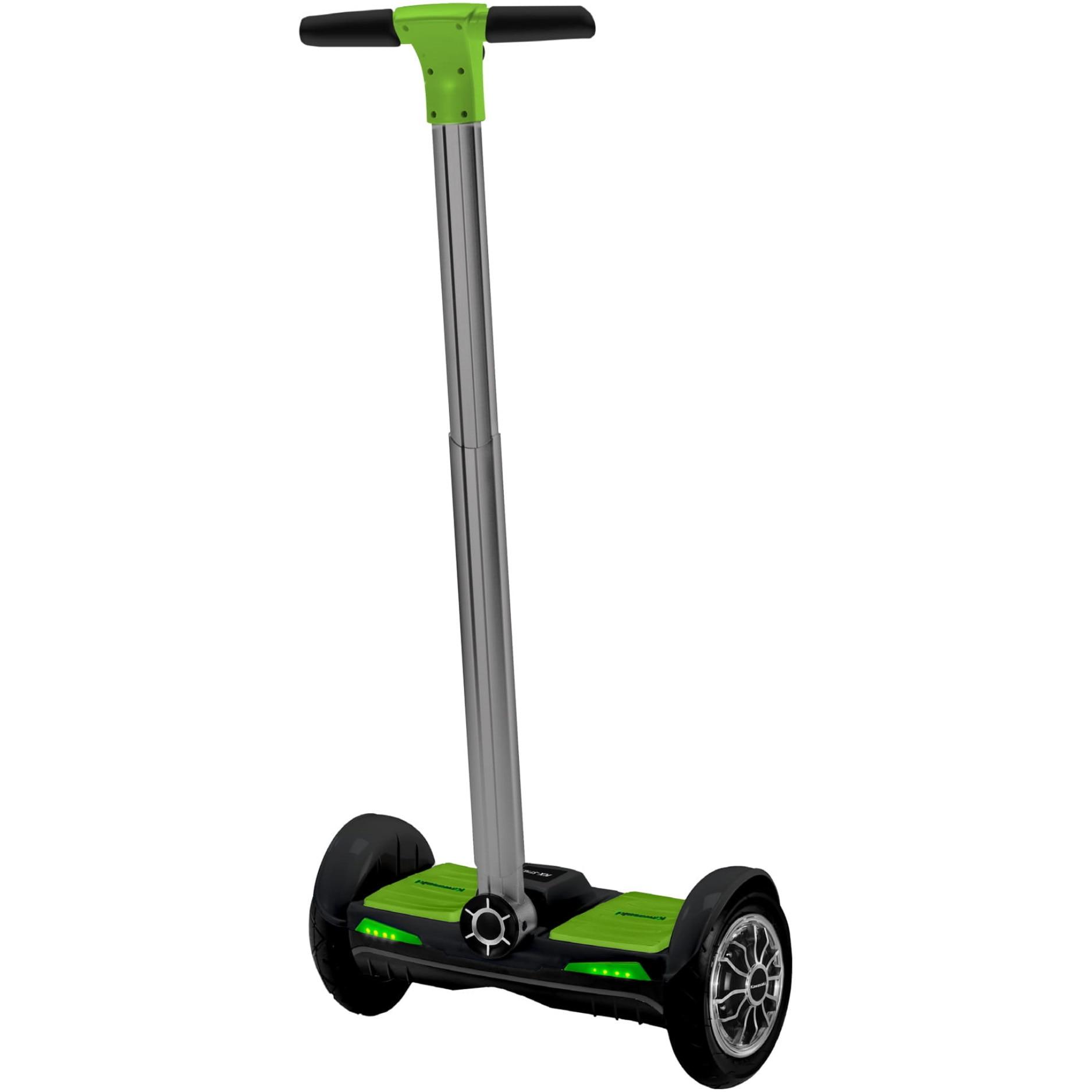 """Fotografie Streetboard electric Kawasaki KX-ST10.1, viteza maxima 20 km, roti 10"""", IP54, 2 x 350 Watt, Negru verde"""